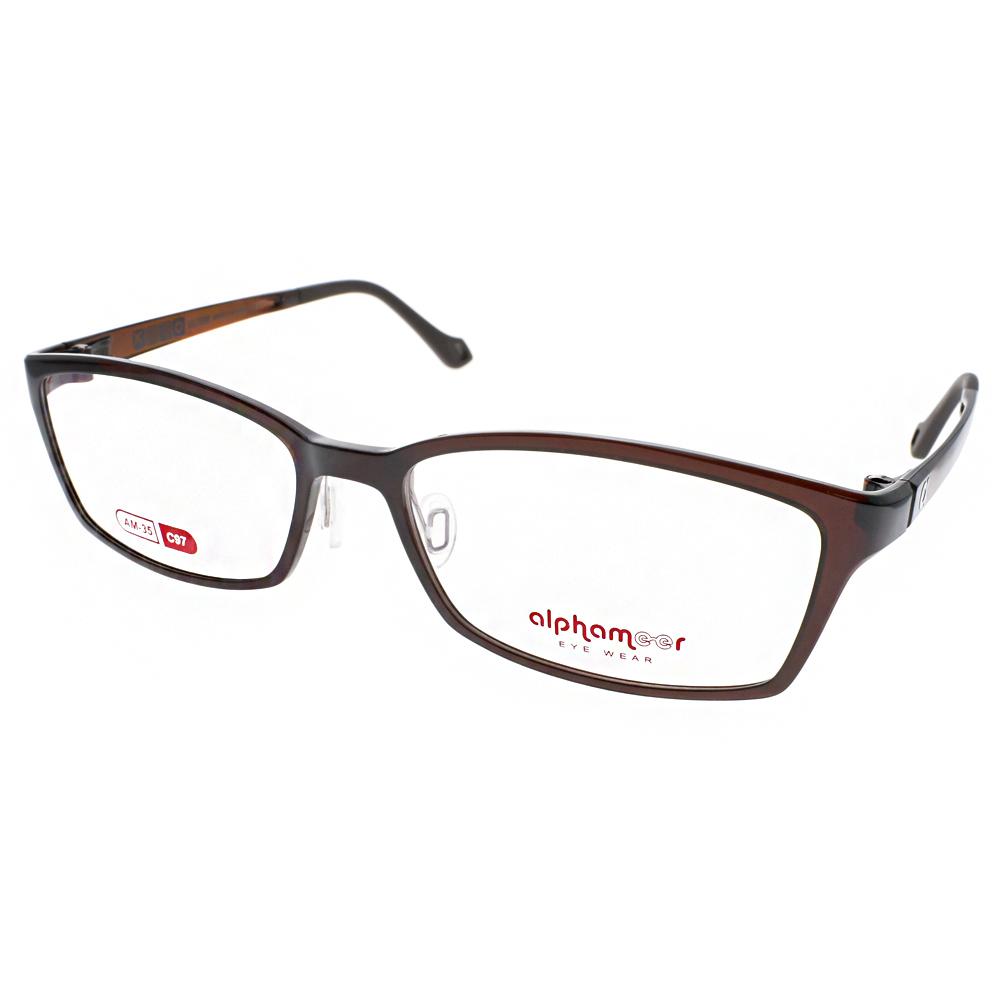 Alphameer光學眼鏡 韓國塑鋼系列/透棕#AM35 C97