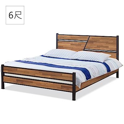 凱曼  奧蘭多積層木6尺床片型加大雙人床