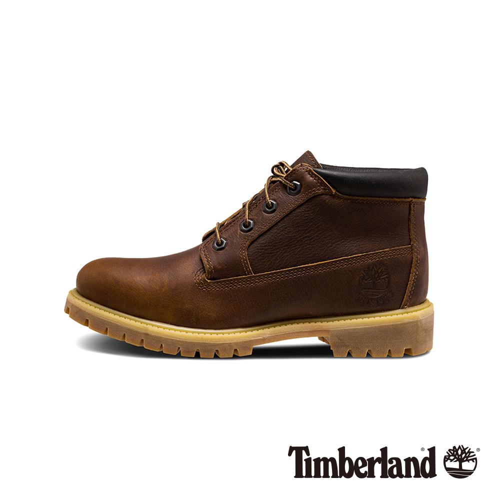 Timberland 男款深咖啡色仿舊防水中筒靴 A1UIM