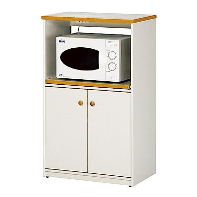 文創集 戴倫環保2.2尺塑鋼二門單格餐櫃(四色)-67x41x112cm-免組