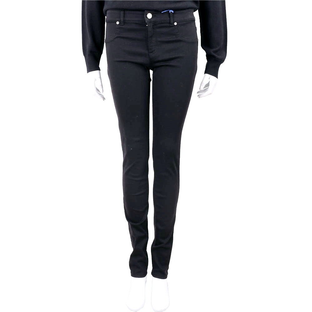 VERSACE Jeans LOGO 珠貼設計黑色修身棉質牛仔褲