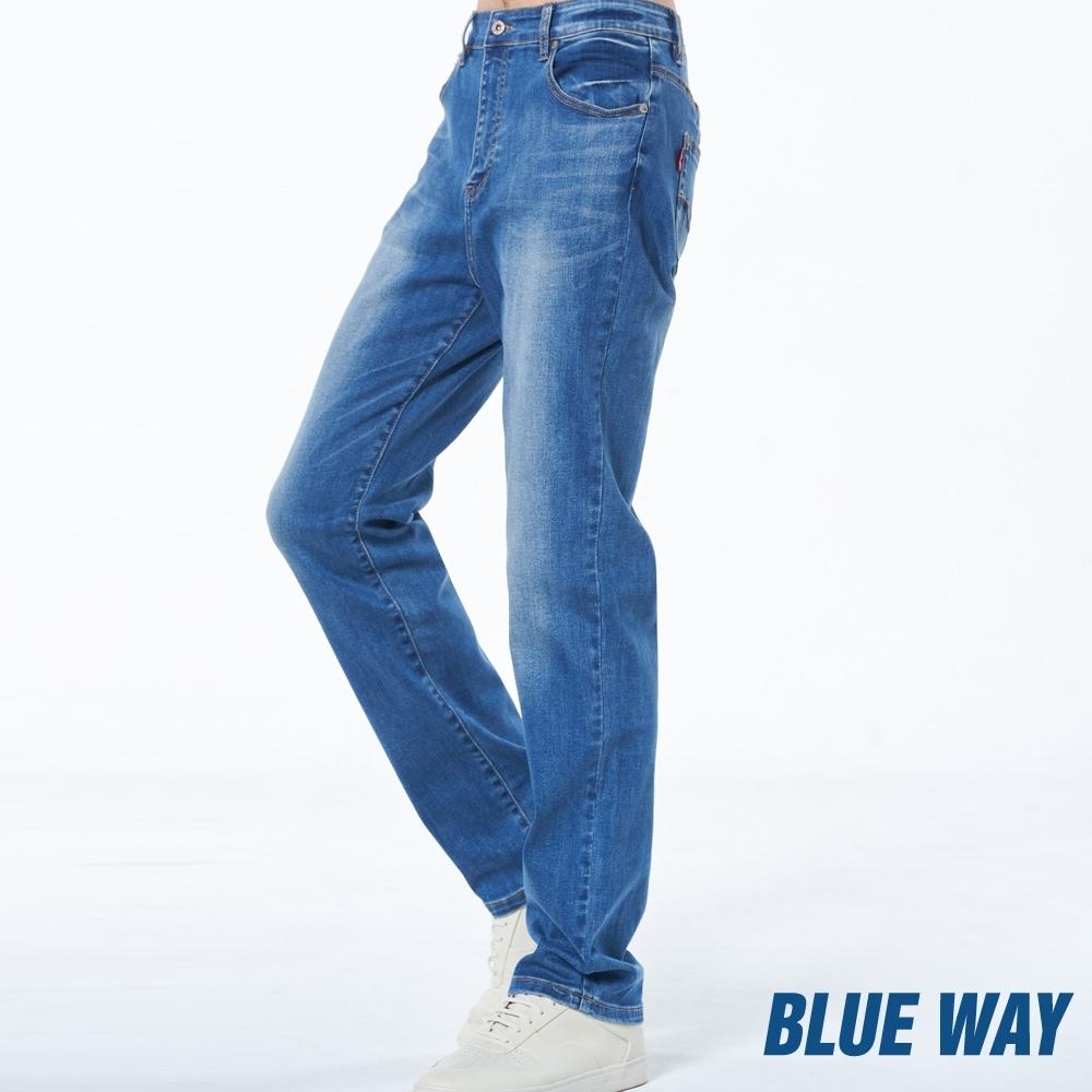 BLUE WAY –  機能系x天絲牛仔中腰直筒褲(淺藍)