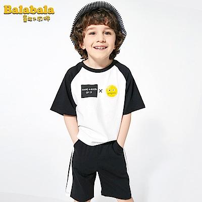 Balabala巴拉巴拉-萌臉表情圖樣造型套裝-男(2色)