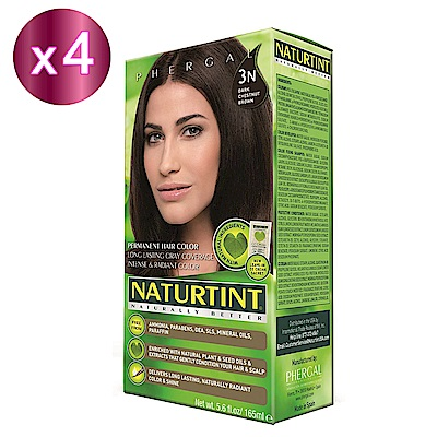 NATURTINT 赫本染髮劑 3N 深棕黑色x4 (155ml/盒)
