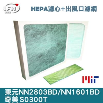 LFH HEPA+出風口抗菌清淨機濾網 適用:東元 NN2803BD/1601BD、奇美 S0300T