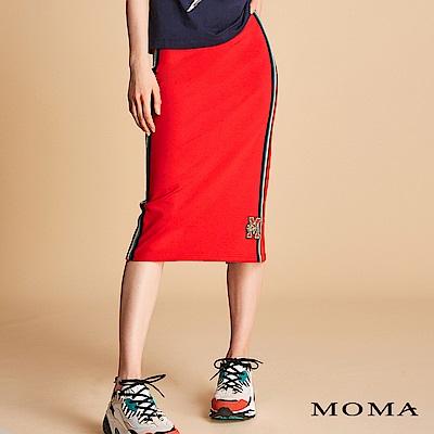 MOMA 金蔥織帶針織窄裙