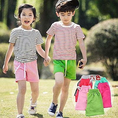 小衣衫童裝  中性款兒童棉質休閒風短褲1060704