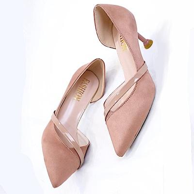 KEITH-WILL時尚鞋館 激推嬉皮流蘇細跟鞋-粉色
