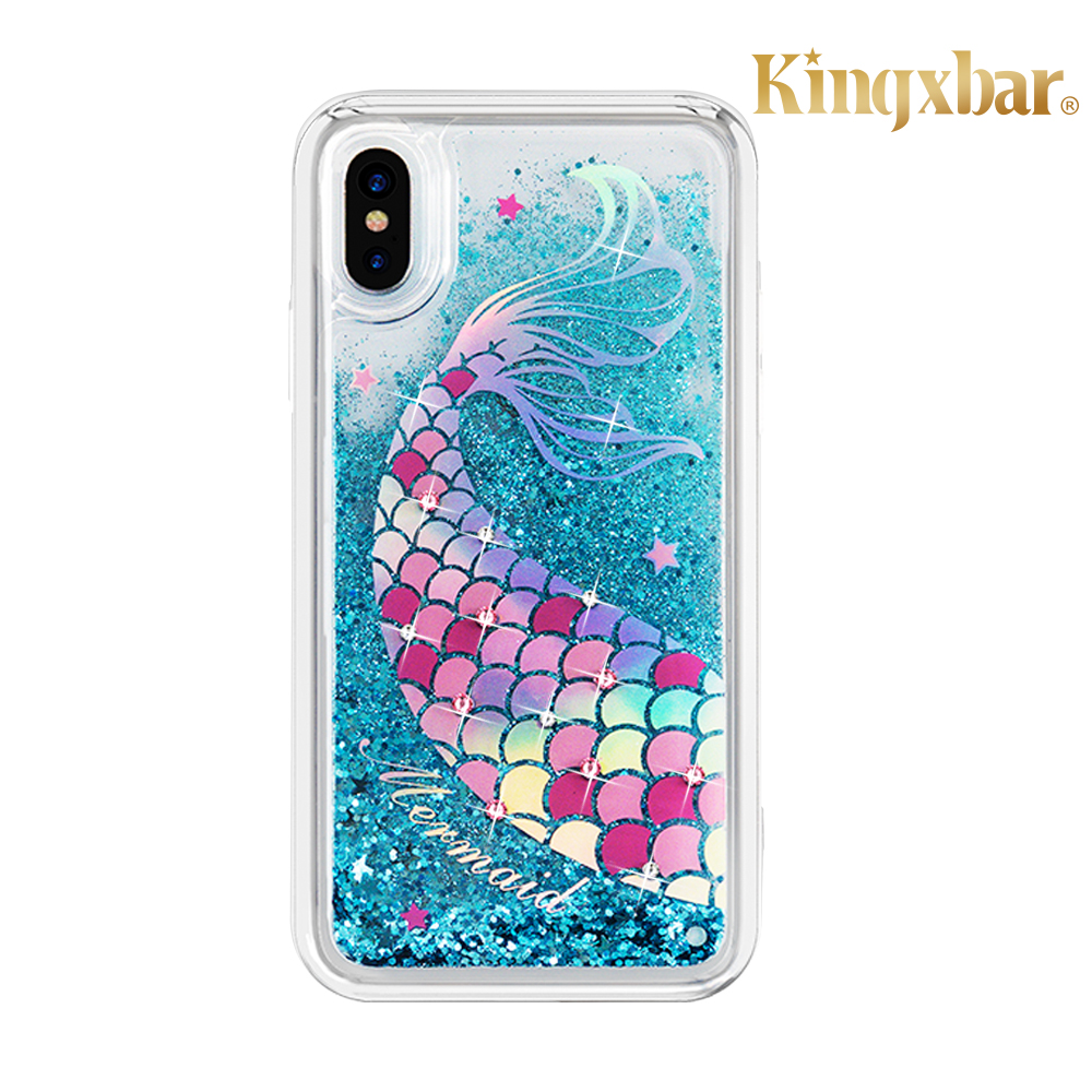 Kingxbar iPhone XR(6.1吋)施華彩鑽水鑽手機殼-美人魚