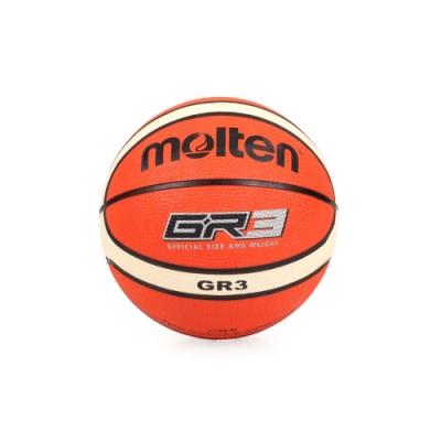 MOLTEN 12片橡膠平溝籃球 Molten 米白橘