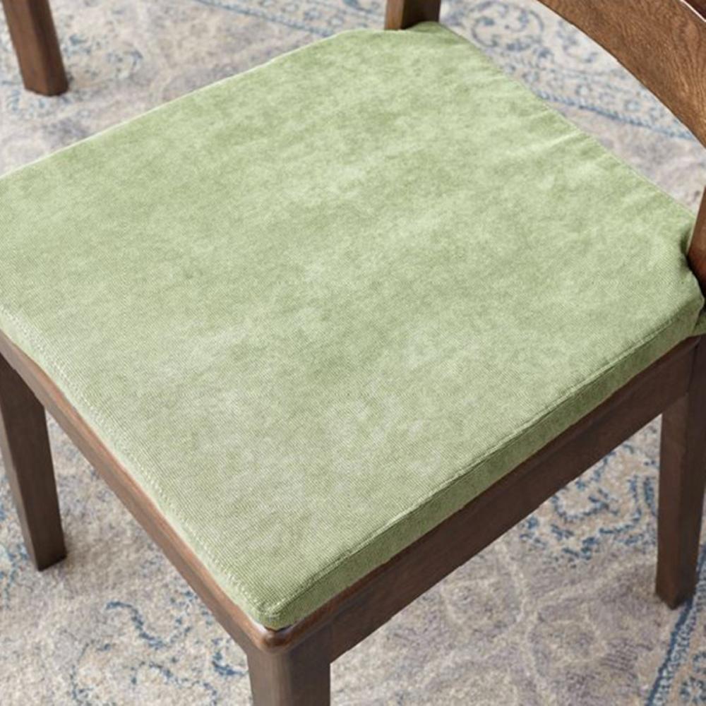 hoi! 原木日式半島紅橡木實木靠背餐椅-草綠色坐墊-兩入組 (H014226482)