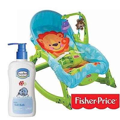 費雪牌 可愛動物可攜式兩用安+貝恩Baan 嬰兒沐浴精/200ml