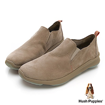 Hush Puppies Bounce Max 高效彈力休閒男便鞋-淺棕色