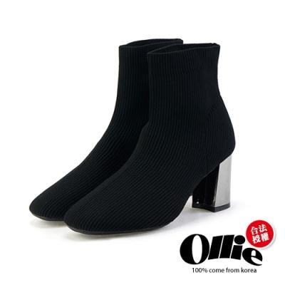 Aviator韓國空運-美型激瘦粗跟襪套靴-ollie預購