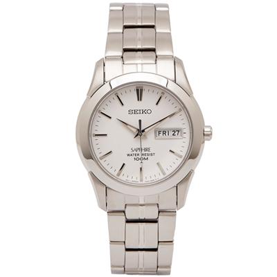SEIKO 極簡風藍寶石鏡面手錶(SGG713P1)-白面X銀色/37mm