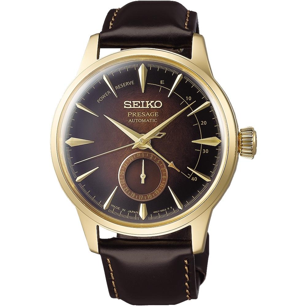 SEIKO精工  PRESAGE限量調酒師動力儲存顯示機械錶(SSA392J1)