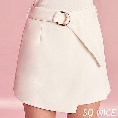 SO NICE都會金屬環造型裙褲