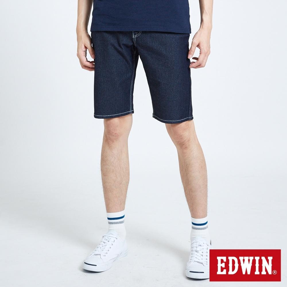 EDWIN JERSEYS 迦績 PK EJ2 涼感低腰合身 牛仔短褲-男-原藍色