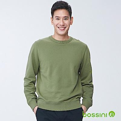 bossini男裝-圓領厚棉T恤01橄欖綠