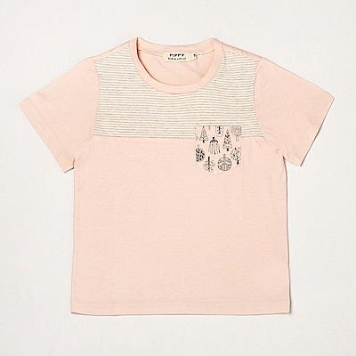 PIPPY 休閒口袋裝飾上衣 粉橙