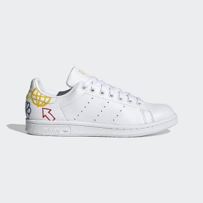 ADIDAS 休閒鞋 經典 皮革 塗鴉 小白鞋 女鞋 白 FX5679 Stan Smith W