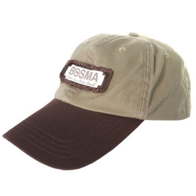 BOSMA博冠卡其色丹寧帽Better View Better World棒球帽鴨舌帽防曬帽遮陽帽子