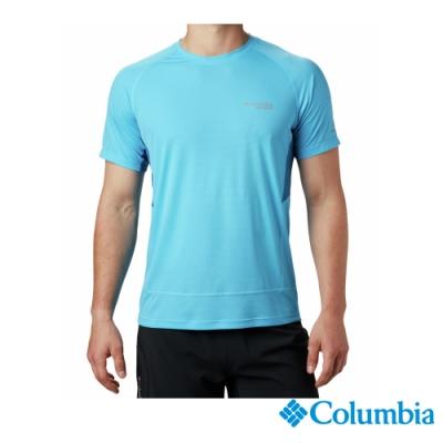 Columbia 哥倫比亞 男款-野跑 Omni-Wick短袖涼感排汗衫-藍色