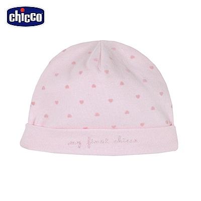 chicco~糖果兔系列~愛心嬰兒帽~粉 頭圍36~48公分
