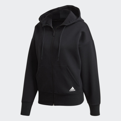 adidas 連帽外套 運動 休閒 訓練 女款 黑 FR5113 W 3S DK FZ S HD