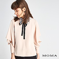 MOMA 花朵領片雪紡上衣