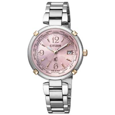 xC 櫻花瓣瓣光動能電波時尚腕錶 EC1044-55W 櫻花粉