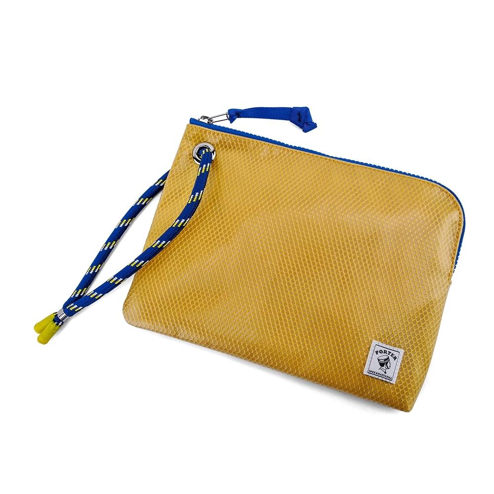PORTER - 彩色束繩收納小袋 - 黃