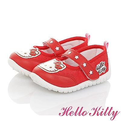 HelloKitty 輕量透氣抗菌防臭室內外娃娃童鞋-紅