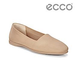 ECCO INCISE ENCHANT 超柔軟牛皮兩穿懶人鞋 女-裸色
