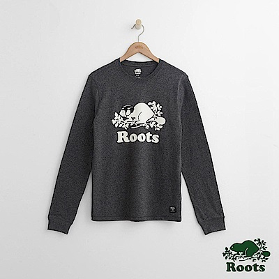 Roots 男裝- 庫柏曲棍球長袖T恤-黑