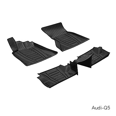MIBO 米寶 魔形水晶全包式立體腳踏墊 AUDI-Q5 2010~2018年5片式 黑色