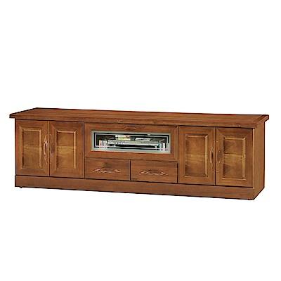 綠活居 艾莉坦時尚7尺木紋電視櫃/視聽櫃-209x50x62cm-免組