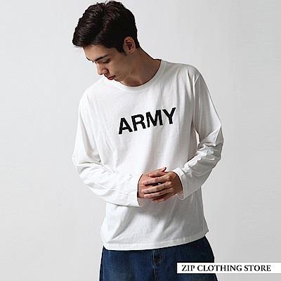 印刷長袖T恤(20色) ZIP日本男裝