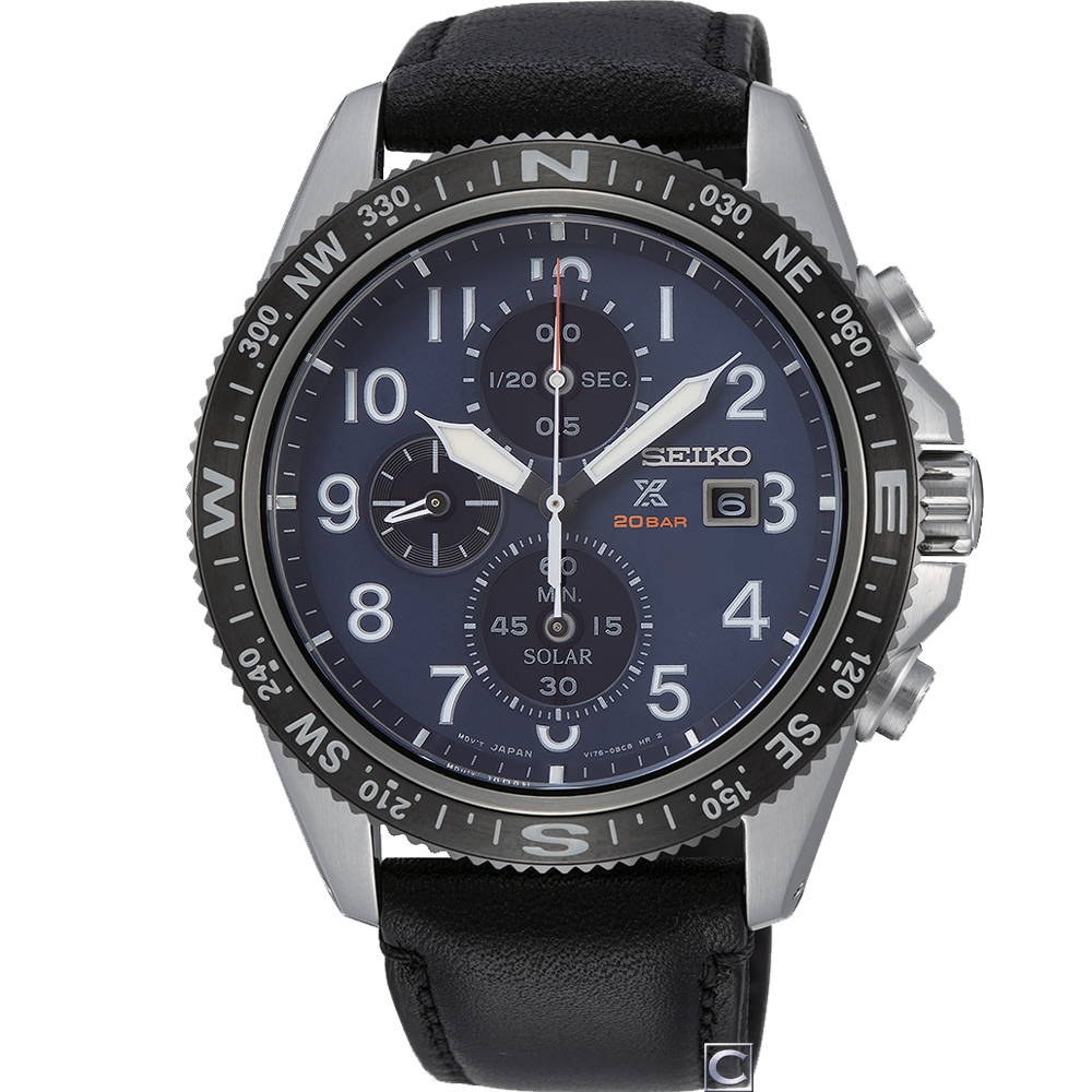 SEIKO Prospex 系列 時尚太陽能計時錶(SSC737P1)44mm