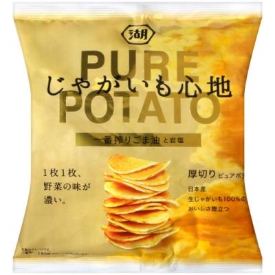 湖池屋 PURE POTATO芝麻油&岩鹽風味薯片(58g)