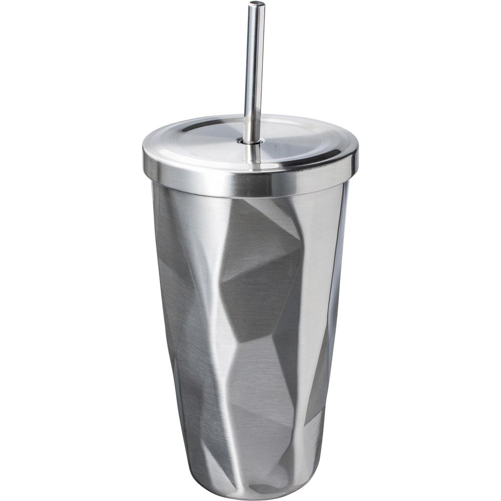 《REFLECTS》不規則雙層冷水杯+吸管(500ml)