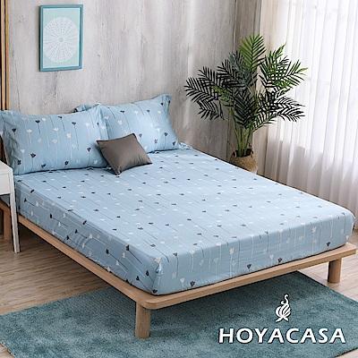 HOYACASA綻放時光 加大親膚極潤天絲床包枕套三件組