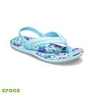 Crocs卡駱馳 (童鞋) 卡駱班花圖案小人字拖 206428-4O9