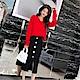 DABI韓國風時尚針織衫排扣長袖上衣