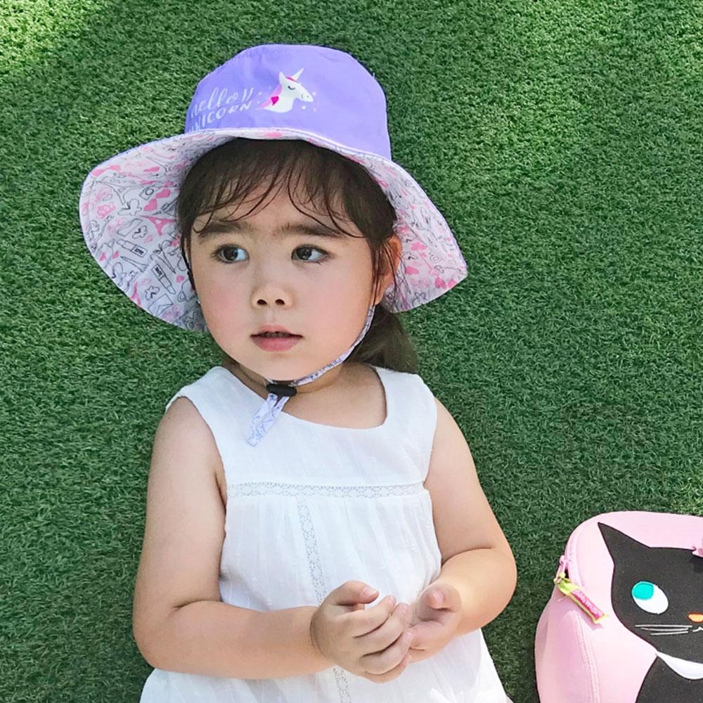 【DabbaKids X Peilou】兒童高效涼感防曬組(帽子+袖套)
