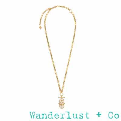 Wanderlust Co蜜蜂展翅項鍊