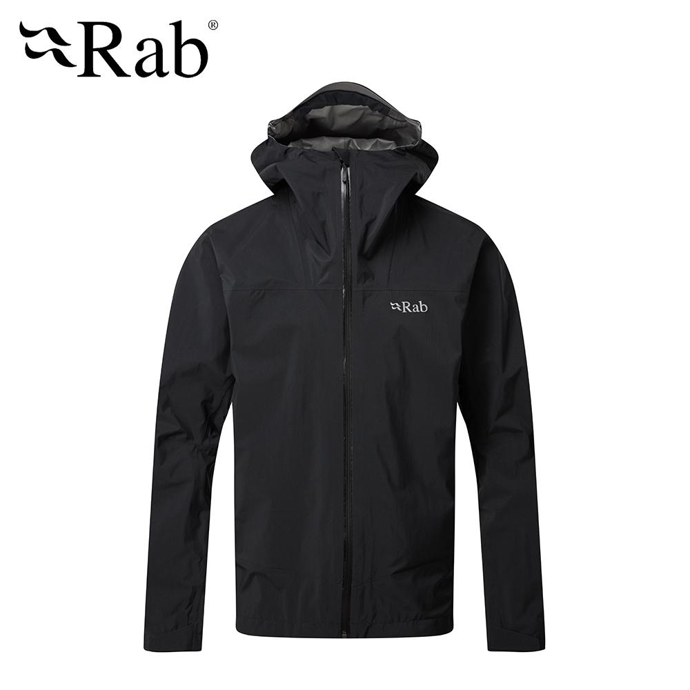 【RAB】Meridian Jacket 連帽防水外套 男款 黑色 #QWG44