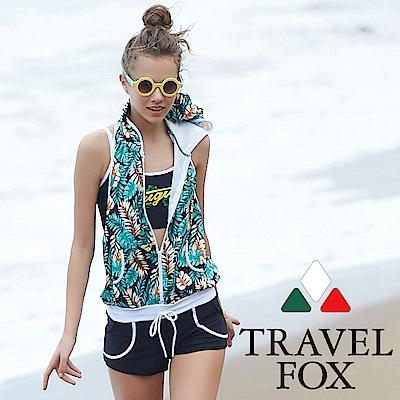 TRAVEL FOX夏之戀 大女連身褲三件式泳衣