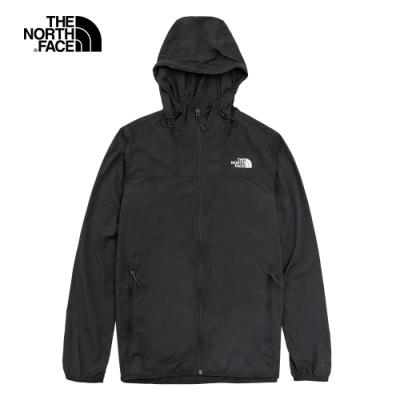 The North Face北面男款深灰色防曬防潑水防風外套|4U8X0C5