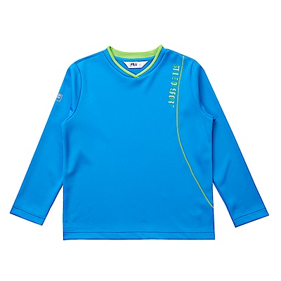 FILA KIDS 童吸濕排汗長袖上衣-藍 1TES-8301-BU